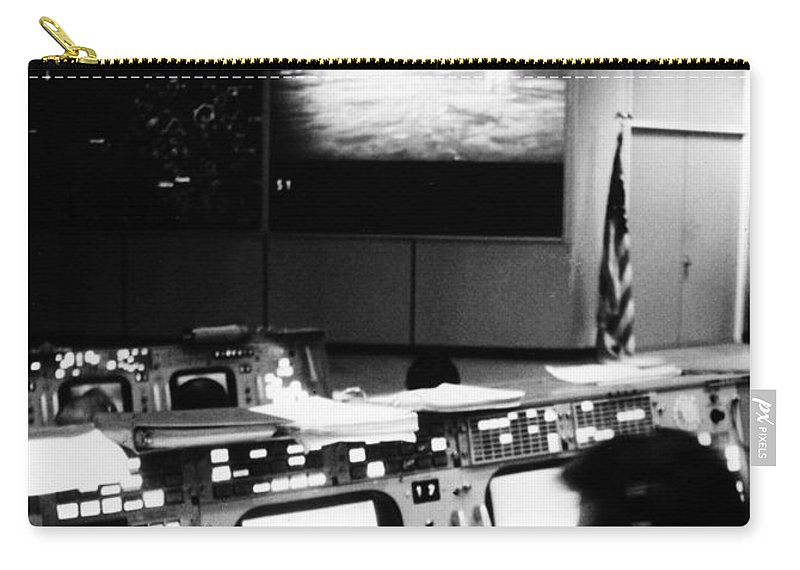 1969 Carry-all Pouch featuring the photograph Apollo 11: Mission Control by Granger