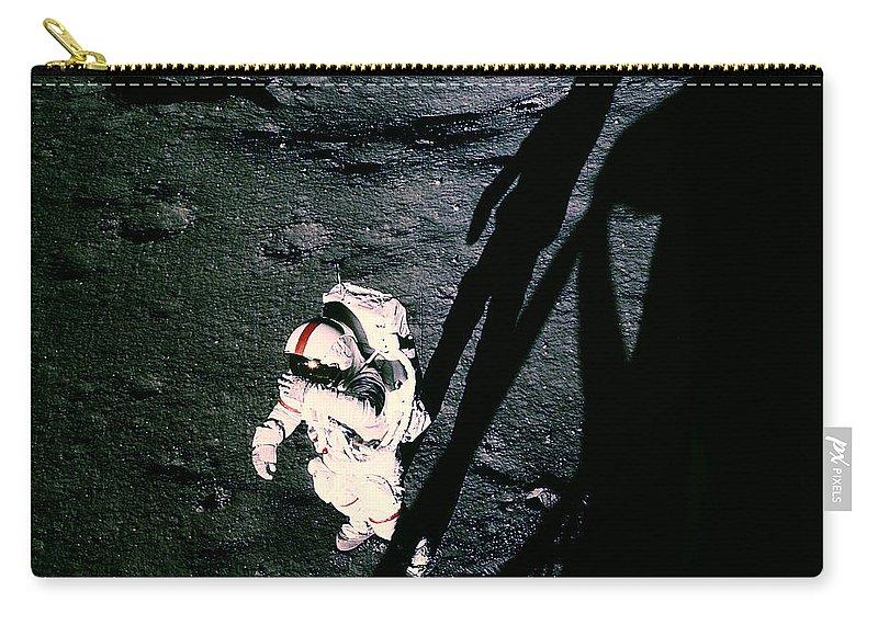 Apollo 14 Carry-all Pouch featuring the photograph Apollo 14 Astronaut Al Shepard by Nasa