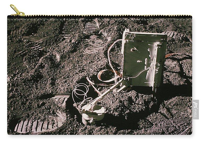 Apollo Carry-all Pouch featuring the photograph Apollo 15 Lunar Experiment by Nasa