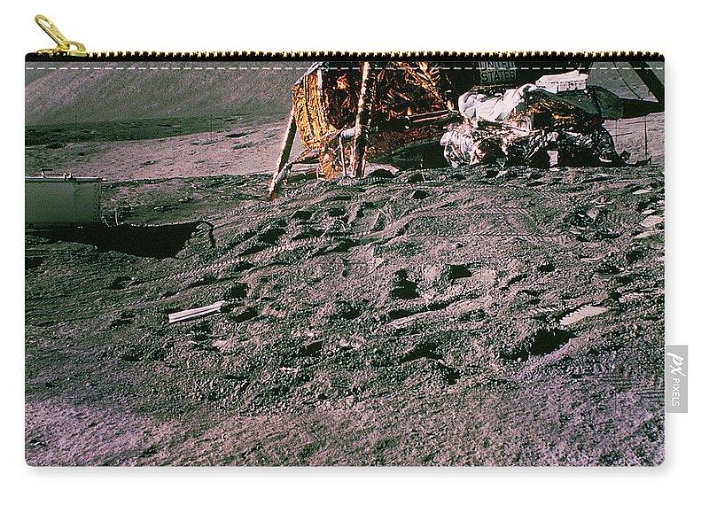 Apollo Carry-all Pouch featuring the photograph Apollo 15 Lunar Module by Nasa