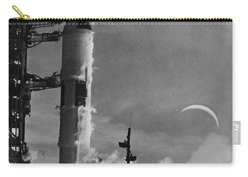 1968 Carry-all Pouch featuring the photograph Apollo 8: Launch, 1968 by Granger