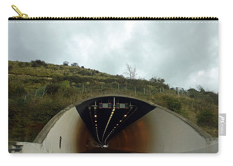 England Carry-all Pouch featuring the photograph Approaching A Tunnel On A Highway In England by Ashish Agarwal