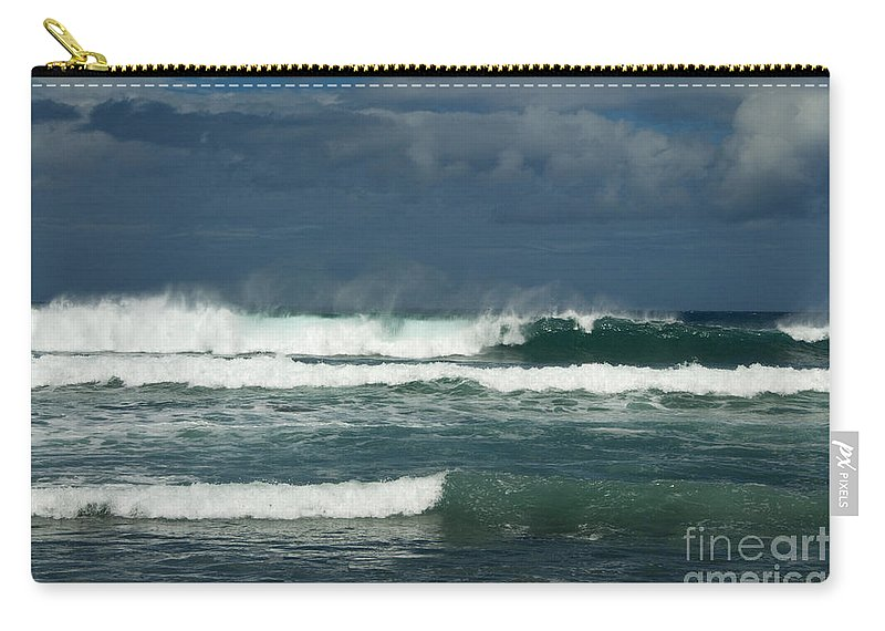 Sandra Bronstein Carry-all Pouch featuring the photograph Approaching Storm In Maui by Sandra Bronstein