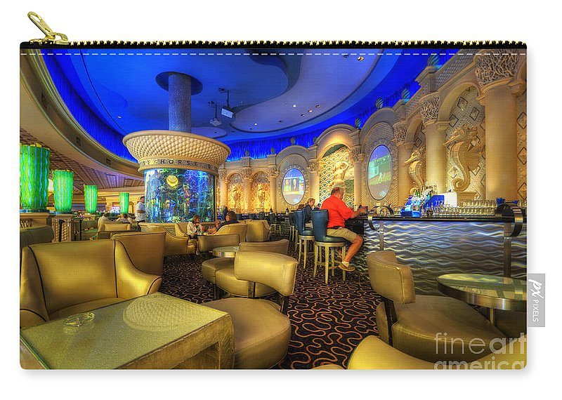 Art Carry-all Pouch featuring the photograph Aqua Bar by Yhun Suarez