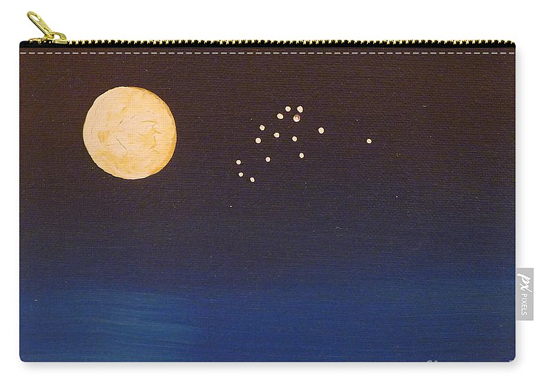 Aquarius Carry-all Pouch featuring the painting Aquarius by Alys Caviness-Gober