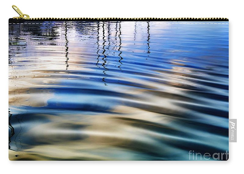 Sunset Carry-all Pouch featuring the photograph Aquatic Reflections by Mariola Bitner