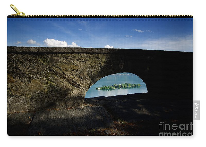 Islands Carry-all Pouch featuring the photograph Arch And Islands by Mats Silvan