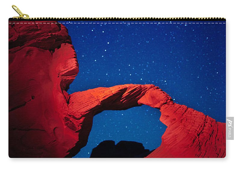 Arch Carry-all Pouch featuring the photograph Arch In Red And Blue by Rick Berk