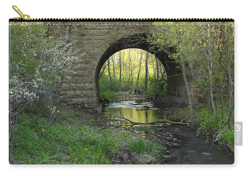 Stone Carry-all Pouch featuring the photograph Arch In Spring 3 by John Brueske