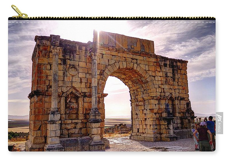 Arch Carry-all Pouch featuring the photograph Arch Of Triumph by Ivan Slosar