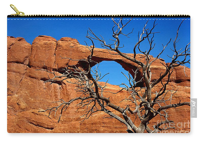 Photograph Carry-all Pouch featuring the photograph Arches National Park by Vicki Pelham