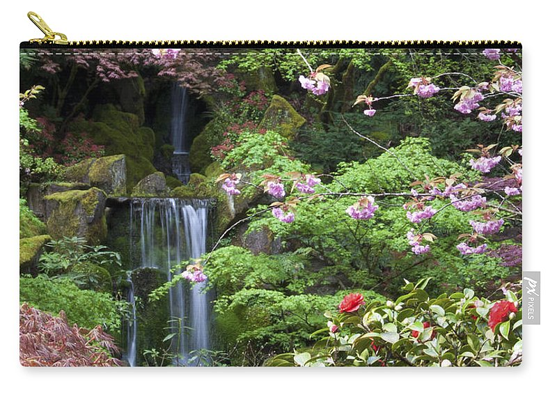 Spring Carry-all Pouch featuring the photograph Arching Cherry Blossoms by Jean Hildebrant