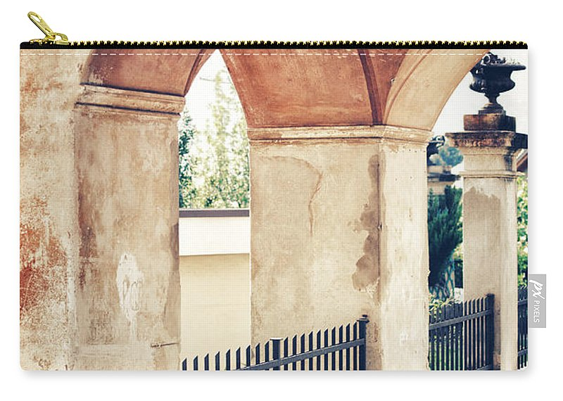 Archway Carry-all Pouch featuring the photograph Archway by Silvia Ganora