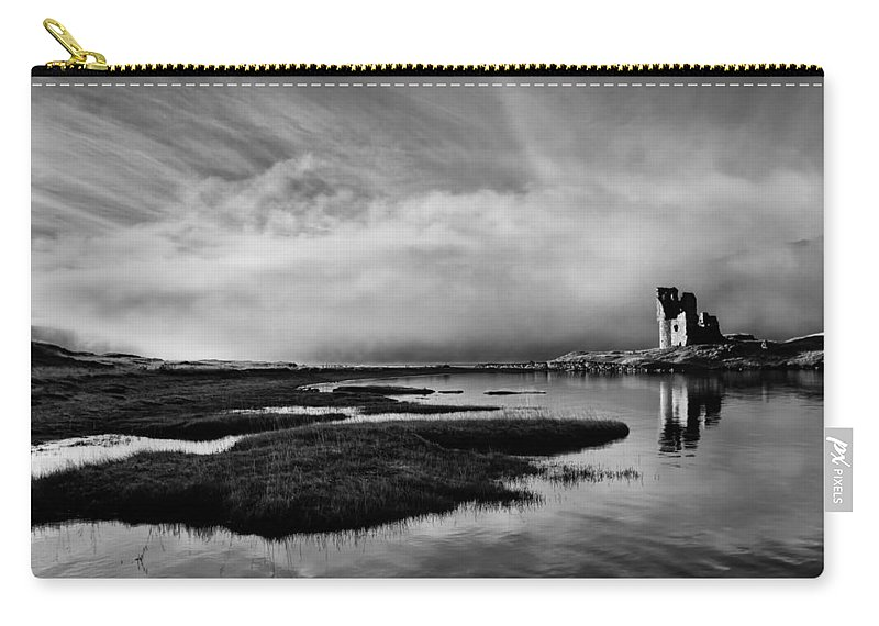 Ancient Carry-all Pouch featuring the photograph Ardvreck Out Of The Mist by Derek Beattie