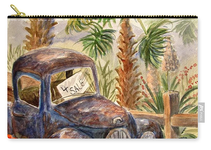 Old Truck Carry-all Pouch featuring the painting Arizona Sweets by Marilyn Smith