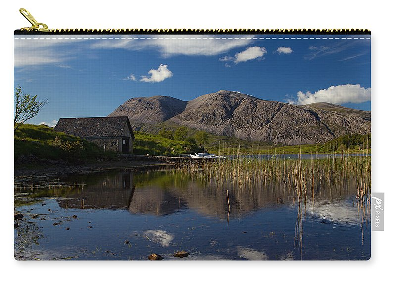 Landscape Carry-all Pouch featuring the photograph Arkle Boathouse by Derek Beattie