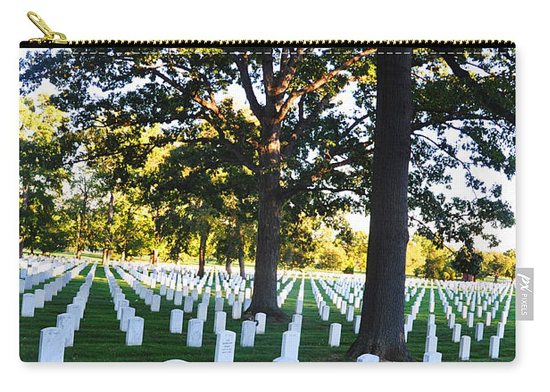 Arlington National Cemetery Carry-all Pouch featuring the photograph Arlington Cemetery Graves by Brittany Horton