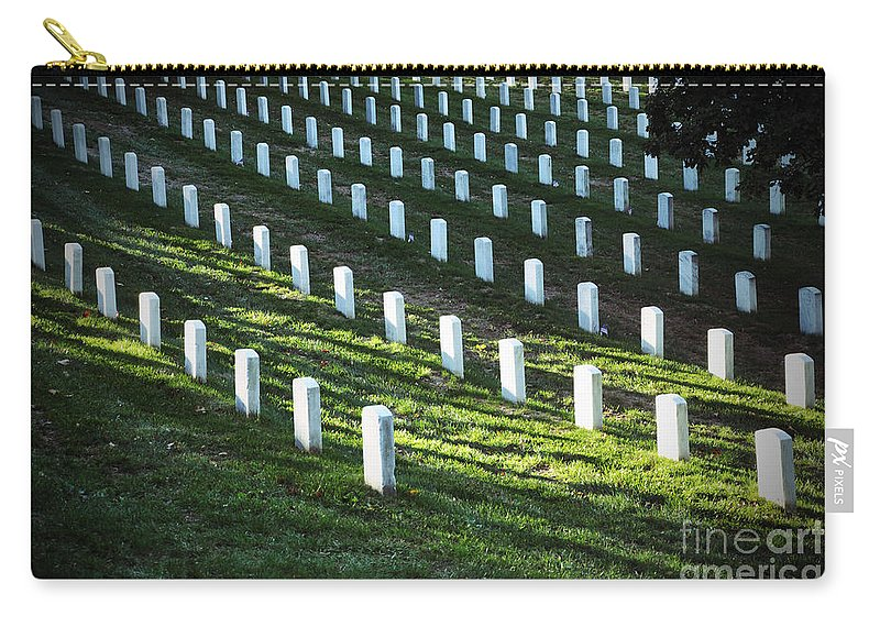 Arlington National Cemetery Carry-all Pouch featuring the photograph Arlington Graves by Brittany Horton