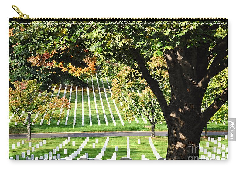 Arlington National Cemetery Carry-all Pouch featuring the photograph Arlington National Cemetery In The Fall by Brittany Horton