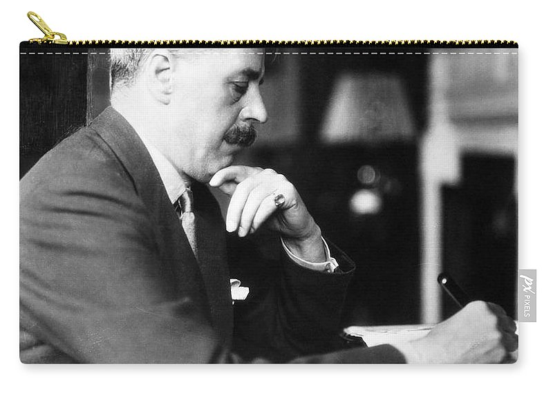 20th Century Carry-all Pouch featuring the photograph Arnold Bennett (1867-1931) by Granger
