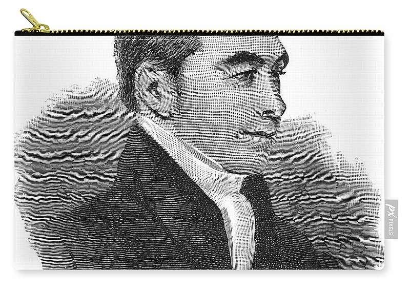 1824 Carry-all Pouch featuring the photograph Arnold Buffum (1782-1859) by Granger