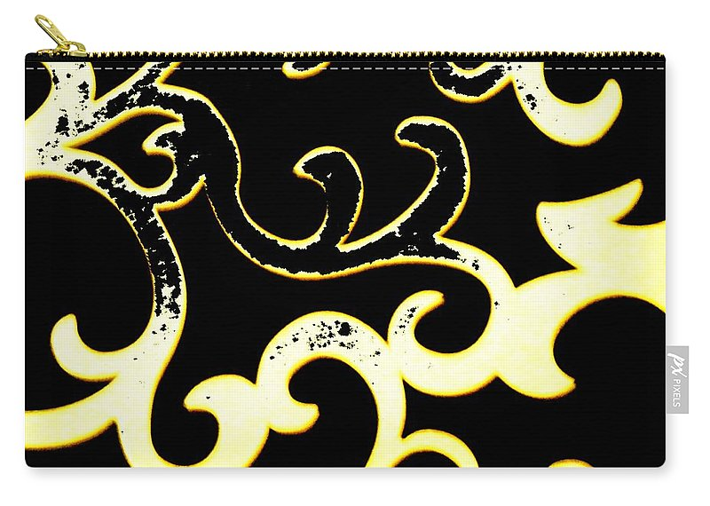Black And White Carry-all Pouch featuring the photograph Art Deco Branchlets by Renate Nadi Wesley