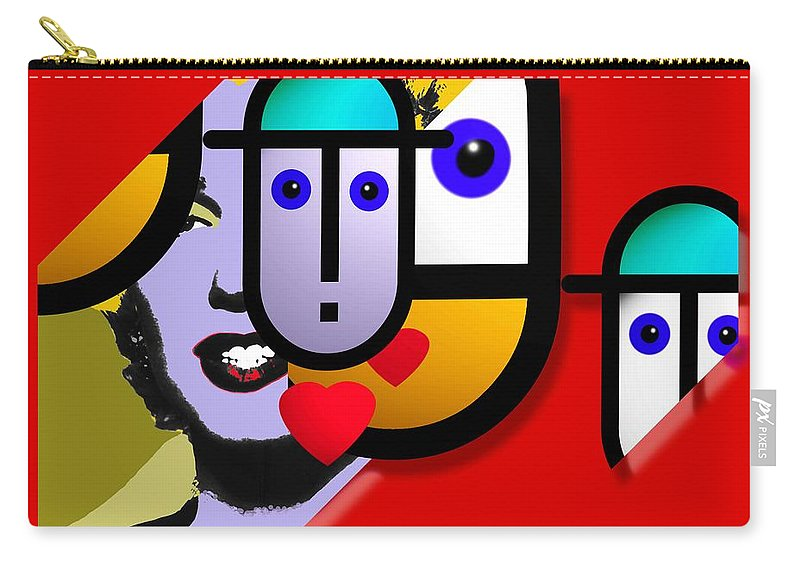 Marilyn Carry-all Pouch featuring the painting Art Lover Revisited by Charles Stuart