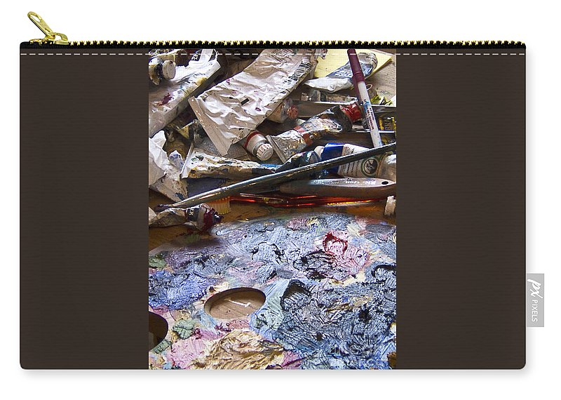 Photograph Carry-all Pouch featuring the photograph Art Studio by Karen Francis