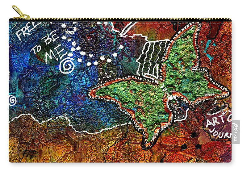 Journal Art Carry-all Pouch featuring the mixed media Art Therapy by Angela L Walker