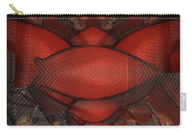 Abstract Carry-all Pouch featuring the digital art Arthropodic by Ron Bissett