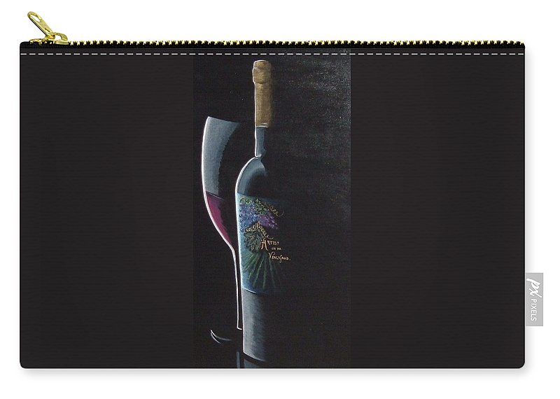 Red Wine Carry-all Pouch featuring the painting Artists Vineyard by Julie Cranfill