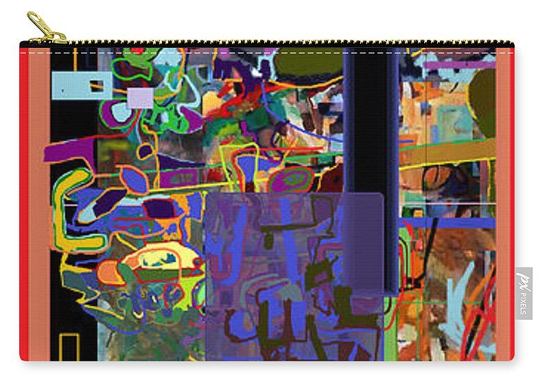 Abstract Carry-all Pouch featuring the digital art Stirrings Of Emunah Six by David Baruch Wolk