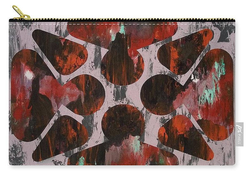Abstract Paintings Carry-all Pouch featuring the painting As A Bee by James Hamilton