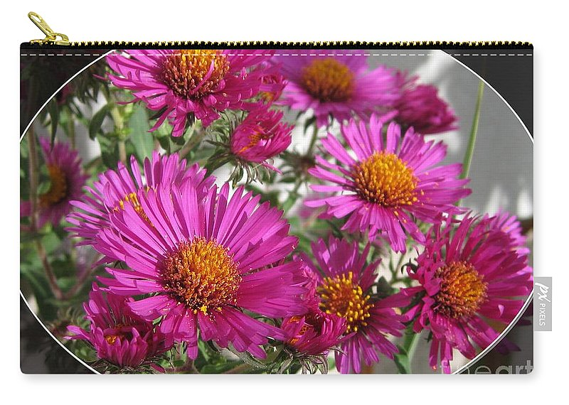 Aster Carry-all Pouch featuring the photograph Aster Named September Ruby by J McCombie