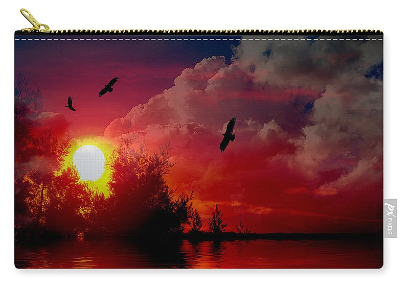 Photograph Carry-all Pouch featuring the photograph At The End Of The Day by Vicki Pelham