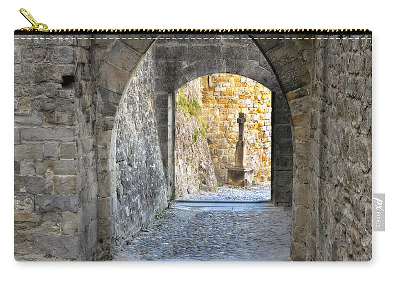 Passageway Carry-all Pouch featuring the photograph At The End Of The Passageway by Dave Mills