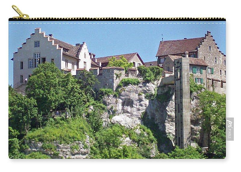 Swiss Carry-all Pouch featuring the photograph At The Rhine Falls by Greg Plamp