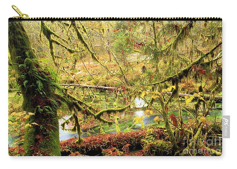 Hoh Rainforest Carry-all Pouch featuring the photograph Attack Of The Moss by Adam Jewell