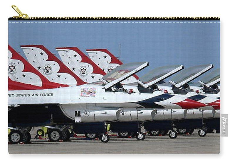 Thunderbirds Carry-all Pouch featuring the photograph Attention Thunderbirds by Kevin Fortier