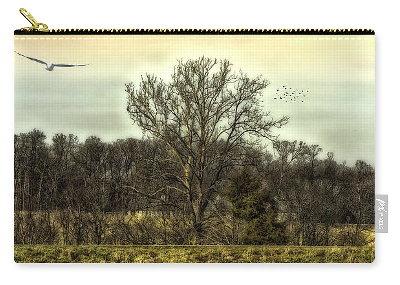 Trees Carry-all Pouch featuring the photograph Auspicious Reflections by Bill Tiepelman