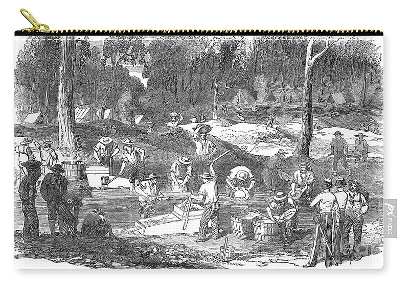 1851 Carry-all Pouch featuring the photograph Australian Gold Rush, 1851 by Granger