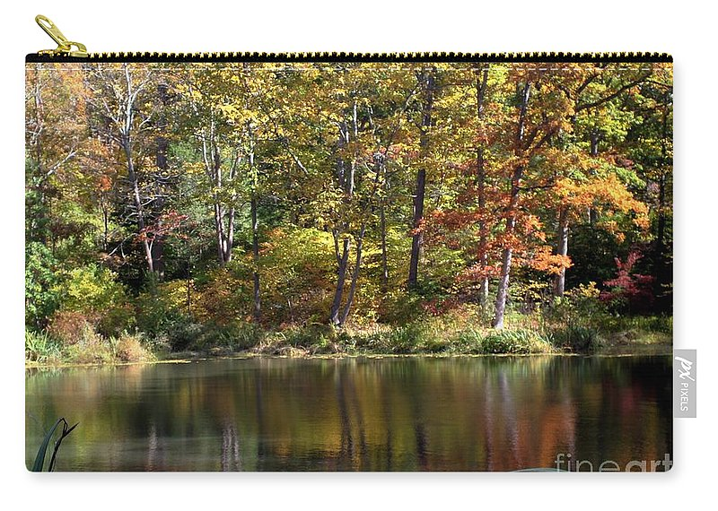 Autumn Carry-all Pouch featuring the photograph Autumn Ambience by Living Color Photography Lorraine Lynch