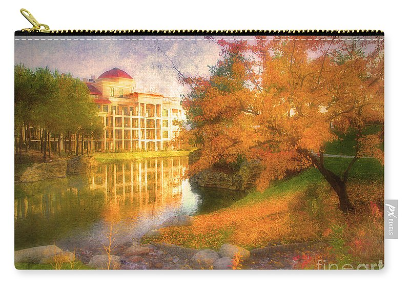 Building Carry-all Pouch featuring the photograph Autumn And Architecture by Tara Turner