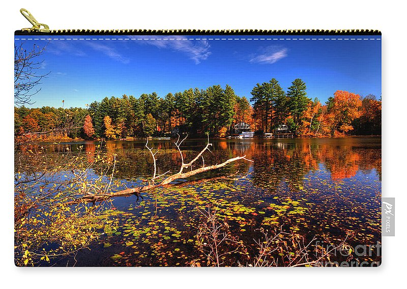 Bomoseen Carry-all Pouch featuring the photograph Autumn At Bomoseen Lake by Rob Hawkins