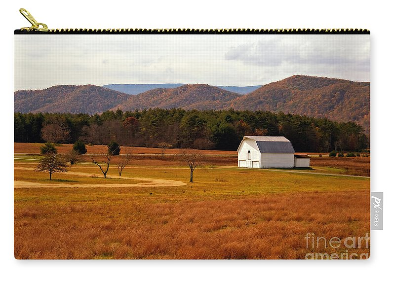 Barn Carry-all Pouch featuring the photograph Autumn Barn In Green Bank Wv by Kathleen K Parker