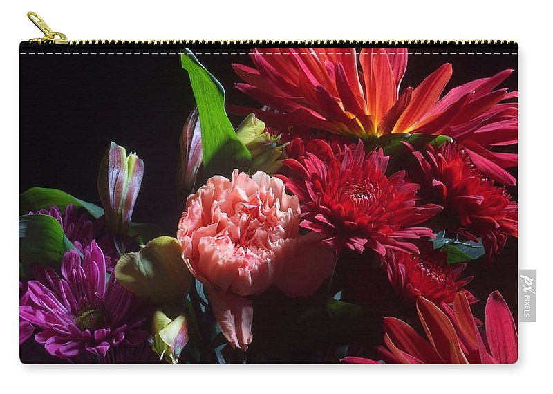 Flower Carry-all Pouch featuring the photograph Autumn Bouquet by Joe Kozlowski