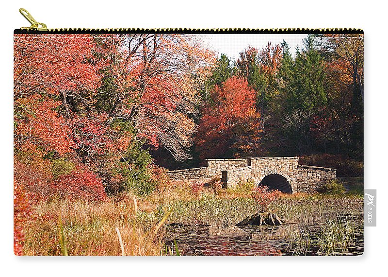 Autumn Carry-all Pouch featuring the photograph Autumn Bridge by David Rucker