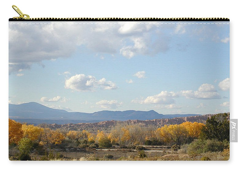 Desert Carry-all Pouch featuring the photograph Autumn Desert Valley by Kathleen Grace