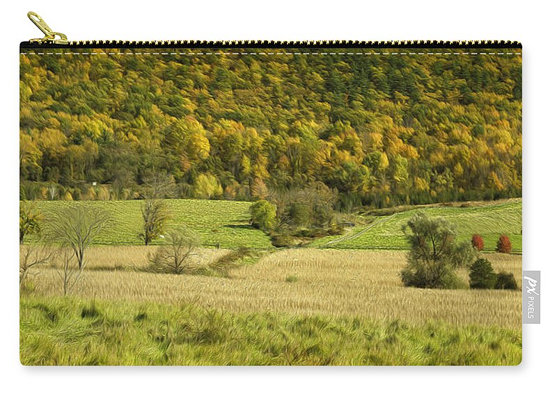 Landscape Carry-all Pouch featuring the photograph Autumn Farm Vista by Fran Gallogly