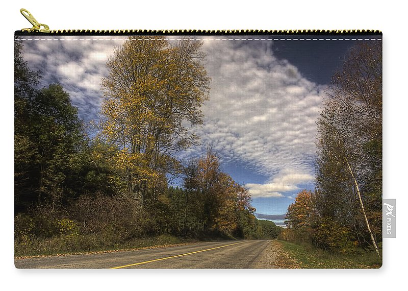 xdop Carry-all Pouch featuring the photograph Autumn Highway by John Herzog